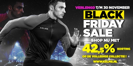 Black Friday deals Kelme verlengd